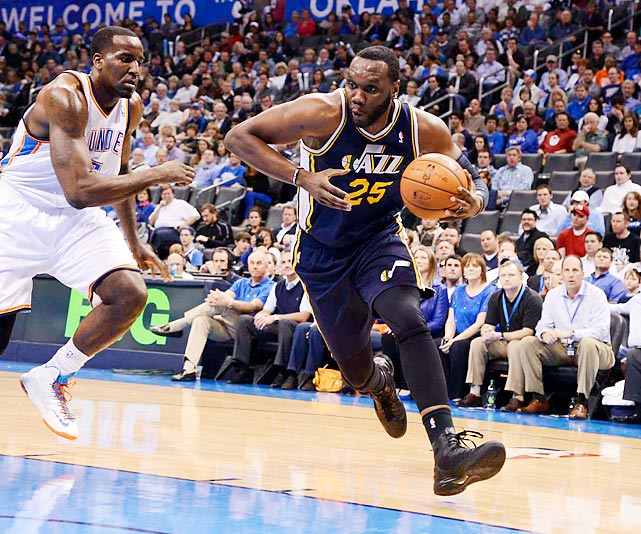 Jefferson left the Jazz to sign with the Bobcats in the offseason.