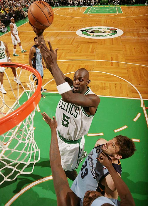 Garnett went to the Nets from the Celtics in a trade in the offseason.