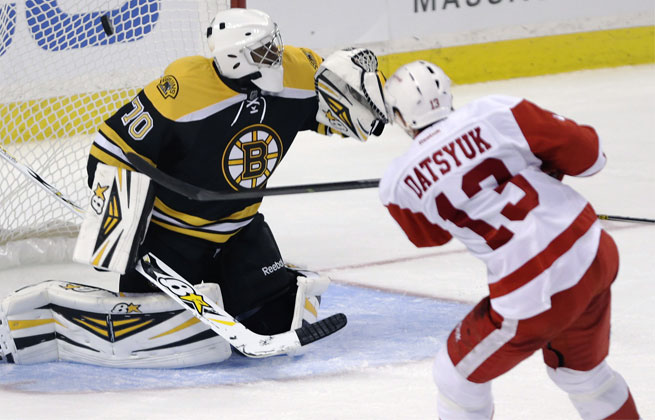 Pavel Datsyuk was in midseason form during Detroit's 8-2 beatdown of the Bruins.