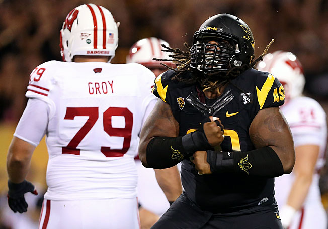 After escaping with a win over Wisconsin, Will Sutton (right) and Arizona State will travel to Stanford.