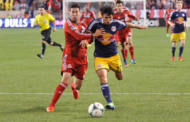 Jonathan Osorio (left) was suspended two games by MLS.