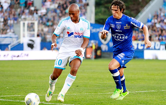 Andre Ayew and Marseille couldn't find a way through the Bastia defense in a 0-0 draw.