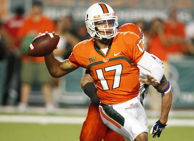 Stephen Morris was injured during Miami's blowout win over Savannah State on Saturday.