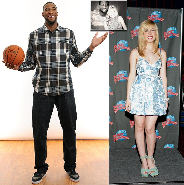 The Detroit Pistons center and actress met on August 30, 2013, after weeks of flirting on social media, and began dating.
