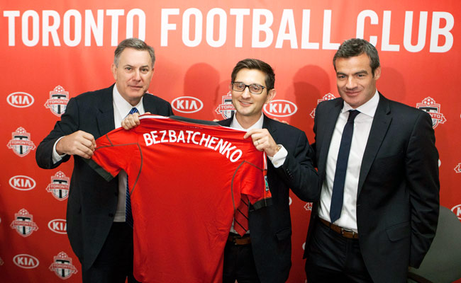 31-year-old Tim Bezbatchenko has been hired to be Toronto FC's new general manager.