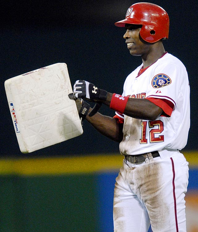 Soriano finished the 2002 season with 39 home runs and 41 stolen bases as a Yankee, just missing the mark. Four years later, in his lone season with the Nationals, Soriano hit over 40 homers for the first time in his career and stole his 40th bag on Sept. 16, 2006, becoming baseball's latest member of the 40-40 club.