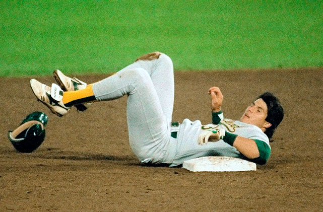 Twenty-five years ago, on Sept. 23, 1988, Jose Canseco stole his 39th and 40th bases of the season and became the first professional ballplayer to hit 40 home runs and steal 40 bases in a single season. Canseco began one of MLB's rarest and most exclusive groups with the feat, the 40-40 club, not to be confused with Jay-Z's chain of sports bars/lounges, named from the baseball term.
