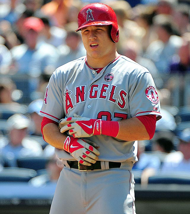 Trout is not a member of the 40-40 club...yet. He does have the distinction of becoming the first rookie to hit 25 home runs and steal 40 bases in one season (2012), and at just 21 years old. In the future, he could potentially join this or an even more exclusive group, the 30-50 club. Only two players, Eric Davis (1987) and Barry Bonds (1990), have ever hit 30 home runs with 50 stolen bases in a single season.
