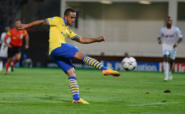 Theo Walcott scored against Marseille in the Champions League last week.