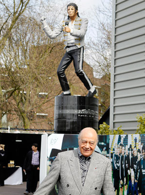 Former Fulham owner Mohamed Al Fayed had the Michael Jackson statue erected in 2011.