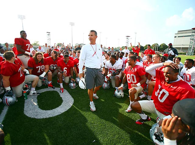 For this week's issue of Sports Illustrated, Pete Thamel wrote a story after being granted behind-the-scenes access to Ohio State's season-opener against Buffalo. That included four days with the team, culminating with game-day access to the coaching staff's headsets. Here are some exclusive SI photos of game week with the Buckeyes.