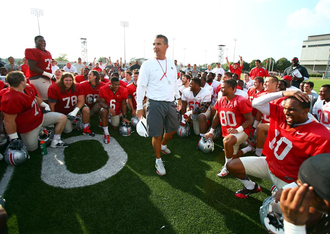 Urban Meyer addressed Ohio State in the week leading up to its season-opening 40-20 win over Buffalo.
