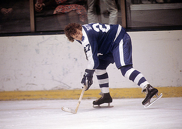 The definitive single-game performance in NHL history belongs to this Hall of Famer. While playing for the Maple Leafs in 1976, Sittler recorded six goals and four assists against the Bruins for an even 10 points. Nobody else has reached nine points in a contest, and only 10 players have gotten to eight.