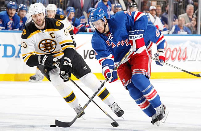 Top line center Derek Stepan has steadily emerged as one of the Rangers' cornerstone players.