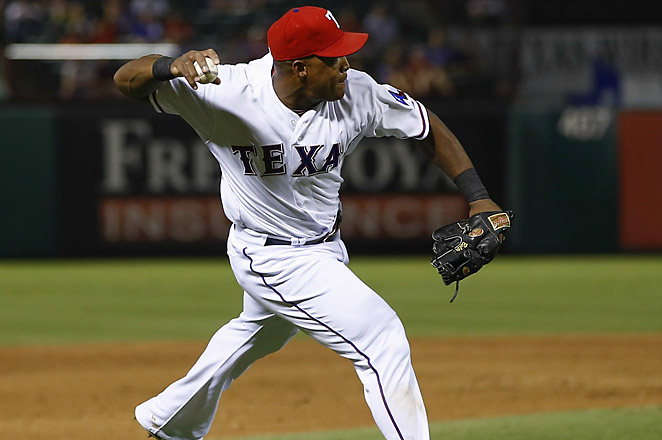 The Rangers had the first four-error inning in the major leagues since the Pirates did it in 2010.