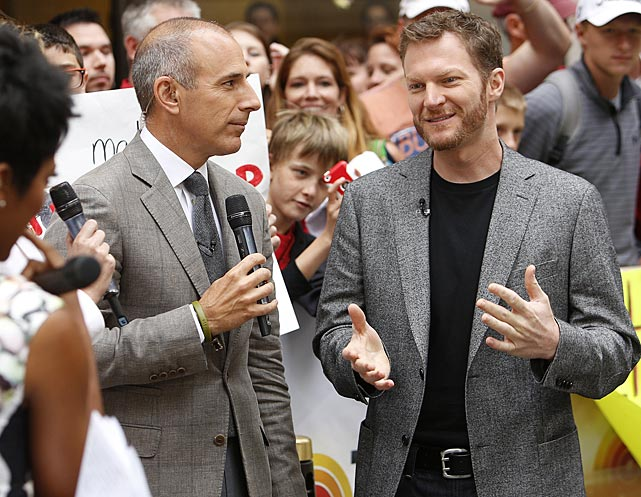 Matt Lauer interviewed Dale Jr. during a morning appearance on the <italics>Today</italics> show.