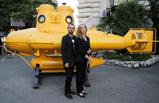 And he lives a life of ease: The ex-Beatles tub-thumper and his Mrs. sailed into Monaco to pick up a Commander of Arts and Letters medal from the French Ambassador at the local oceanographic museum.