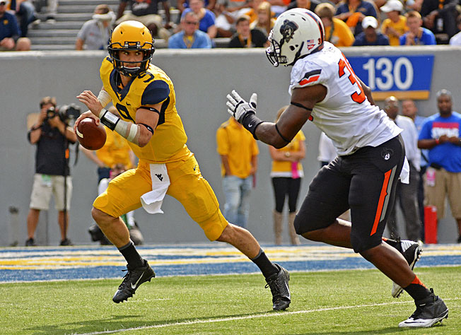 Quarterback Clint Trickett and West Virginia beat Oklahoma State just one week after losing to Maryland.