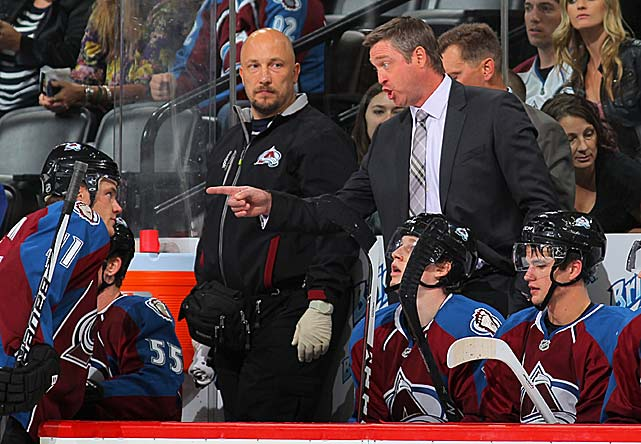 "The temperamental Hall of Fame goalie joins his former,teammate, GM Joe Sakic, in rebuilding the Avalanche as their new coach and vice president of hockey operations. Roy has spent the last eight seasons as coach/GM and part owner of the Quebec Remparts of the Quebec Major Junior Hockey League, winning the 2006 Memorial Cup. ""We might not win the Stanley Cup next year,"" he said upon his introductionby the Avs. ""But we're going to have a Stanley Cup attitude."""