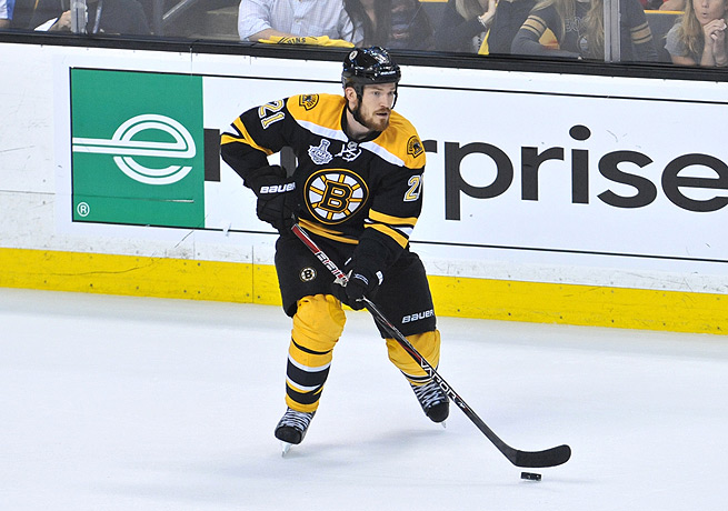Andrew Ference tallied 13 points for the Bruins last season as Boston reached the Stanley Cup.