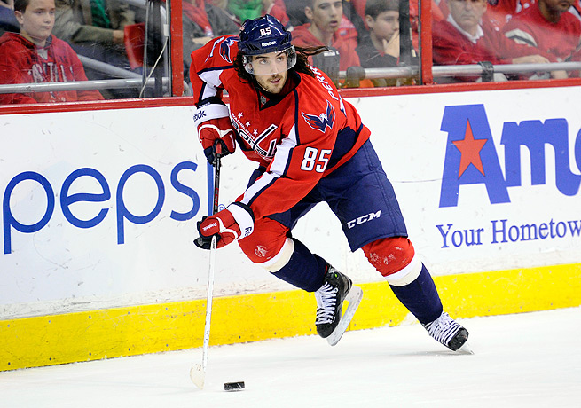 Mathieu Perreault registered six goals and 11 assists for the Capitals last season.