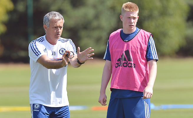 Kevin De Bruyne struggled to keep his place in the Chelsea squad under Jose Mourinho.