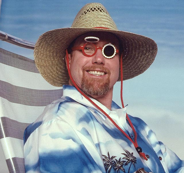 McGwire wasn't afraid to look goofy during this 1998 SI photo shoot.