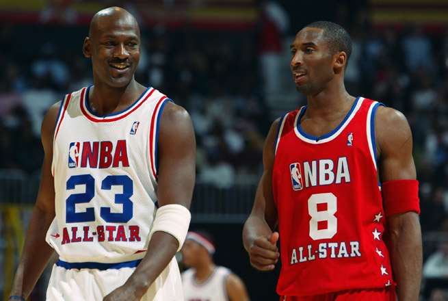 Michael Jordan says Kobe Bryant would be tough to beat 'because he steals all of my moves.'