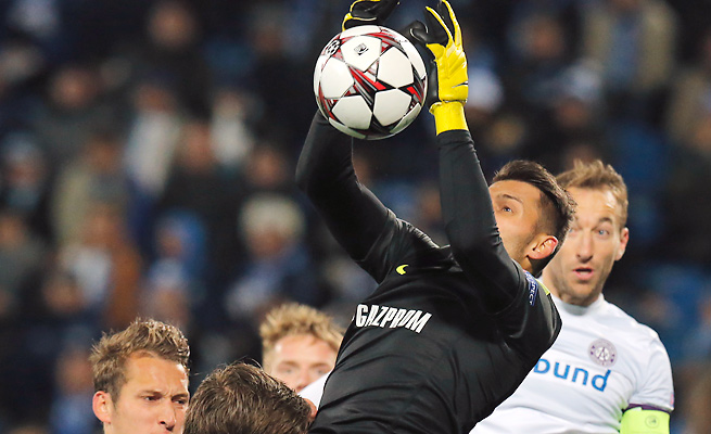 Despite playing a man down, Yuri Lodygin and Zenit earned a point in their draw with Austria Vienna.