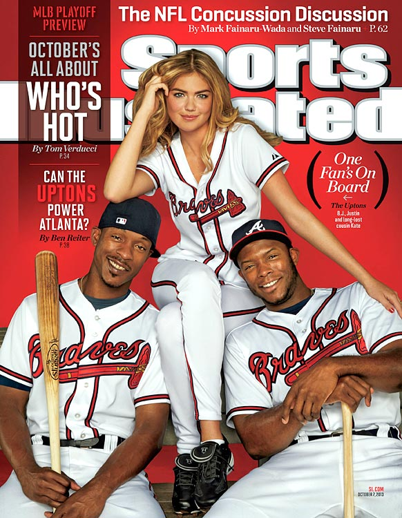 Kate Upton, with B.J. and Justin, is the first Swimsuit model to grace the cover of a non-Swimsuit SI. The Braves strike out a lot, have been devastated by injuries, and their highest-paid player had a ridiculously bad debut season in Atlanta, but in October that might not matter. B.J., the older Upton, cops to tinkering unnecessarily with his plate approach, but he refutes the idea that Justin's presence is a burden.