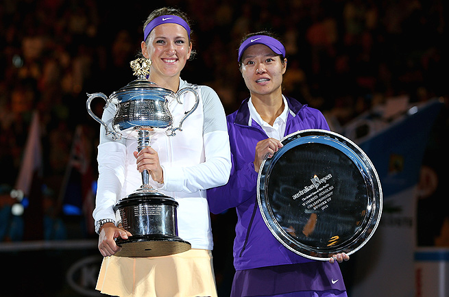 Victoria Azarenka defeated Li Na in the women's final of the Australian Open in 2013.
