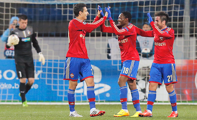 CSKA Moscow bounced back from a 3-0 defeat to Bayern Munich with its victory over Viktoria Plzen.