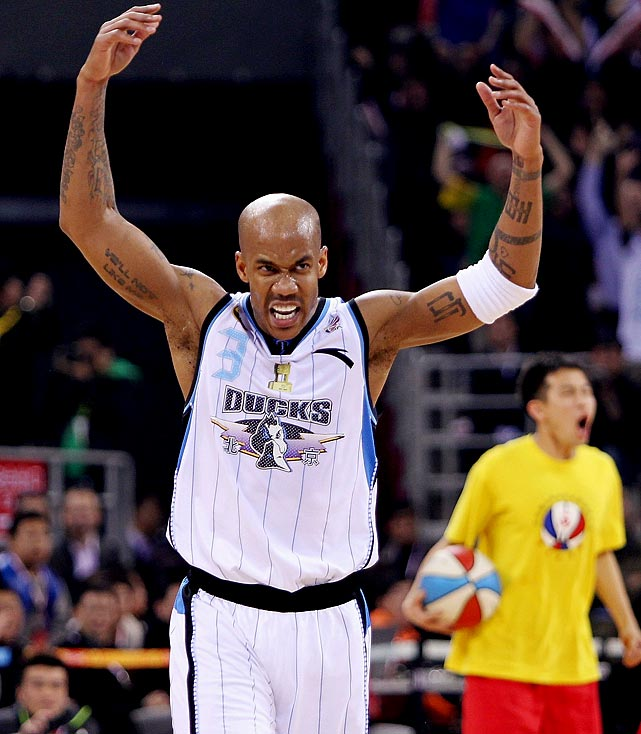 The Ducks are a Chinese professional basketball team known recently as a haven for American players looking to prolong their careers. The team signed Steve Francis and Stephon Marbury, and Marbury, who helped bring the team its first first Chinese Basketball Association (CBA) title in 2012, is still on the roster.
