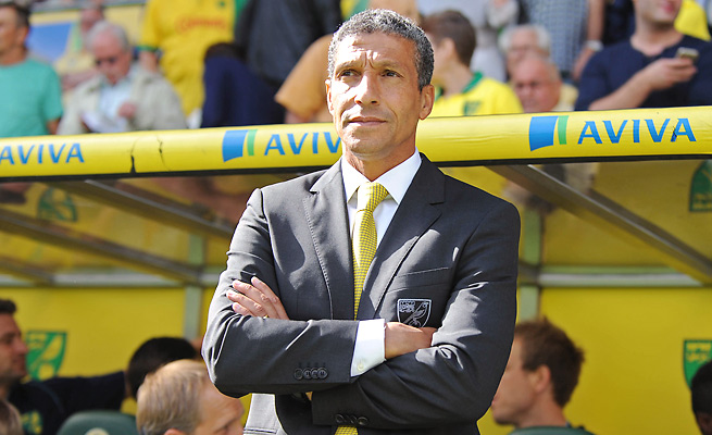 Chris Hughton was targeted with racist abuse after Norwich's 1-0 win over Stoke on Sunday.
