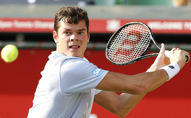 Milos Raonic served up 17 aces in his 6-4, 6-3 victory over Jeremy Chardy.