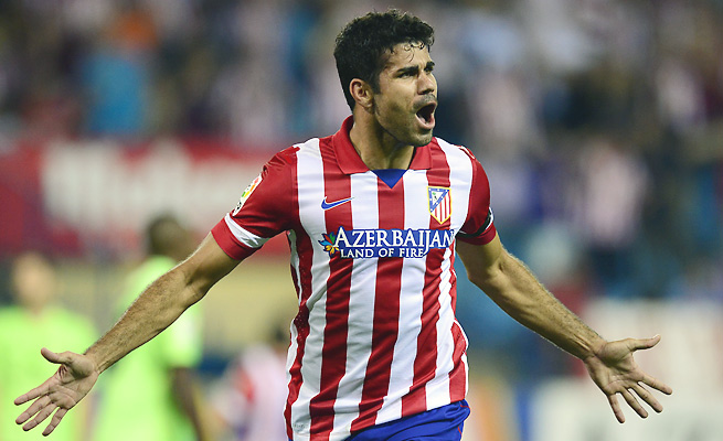 Diego Costa has been in impeccable form lately, matching Lionel Messi with eight goals to top La Liga.