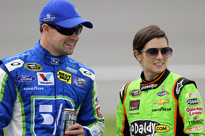 "NASCAR's power couple have starring roles in the video for Colt Ford's single, ""Drivin' Around Song."""