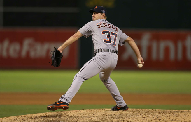 Max Scherzer went seven strong, striking out 11 in the Tigers 3-2 win over the A's.