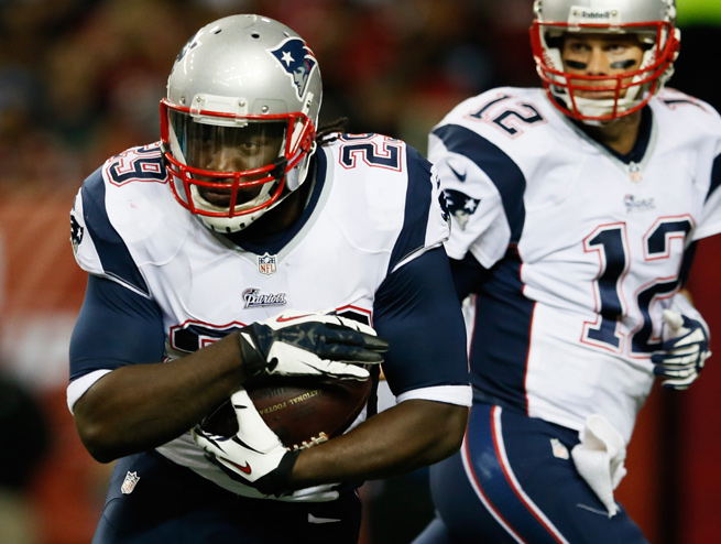 With Stevan Ridley hurt, LeGarrette Blount will be the primary ballcarrier for New England in Week 5.