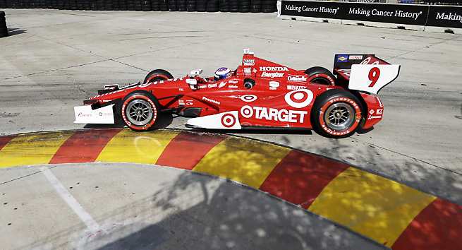 Scott Dixon finished his season-best fourth win of the season at the Houston Grand Prix.