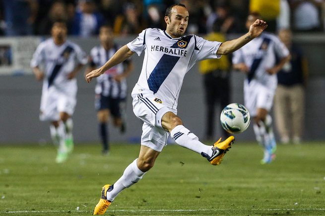 Landon Donovan is one goal away from breaking the all-time MLS record for goals scored.