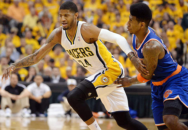 Pacers swingman Paul George was the Most Improved Player last season, his third in the league.