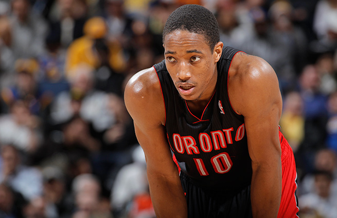Guard DeMar DeRozan wants to be a part of Toronto's future -- unlike Raptors stars of the past.