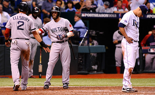 Boston's pesky tablesetters, Jacoby Ellsbury and Dustin Pedroia, made life miserable for the Rays in the ALDS.