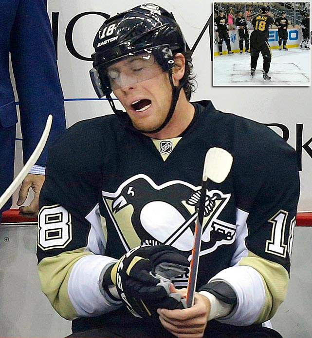 "James Neal, who has played only one period of hockey this season, allegedly hurt himself participating in an on-ice wiffle ball game, according to a report from 970 ESPN Pittsburgh. The 26-year-old Pittsburgh Penguins star left the team's season opener last Thursday with what coach Dan Bylsma called an upper body injury. Neal, who ESPN said has an injury ""similar to a strained oblique,"" was playing wiffle ball as part of a Penguins video tribute to the Pirates. The <italics>Pittsburgh Tribune-Review</italics>, meanwhile, reported Penguins GM Ray Shero said the wiffle ball story is ""Not accurate, 100% not true."" True or not, here are 20 other bizarre injuries that have been suffered by NHL players through the years..."