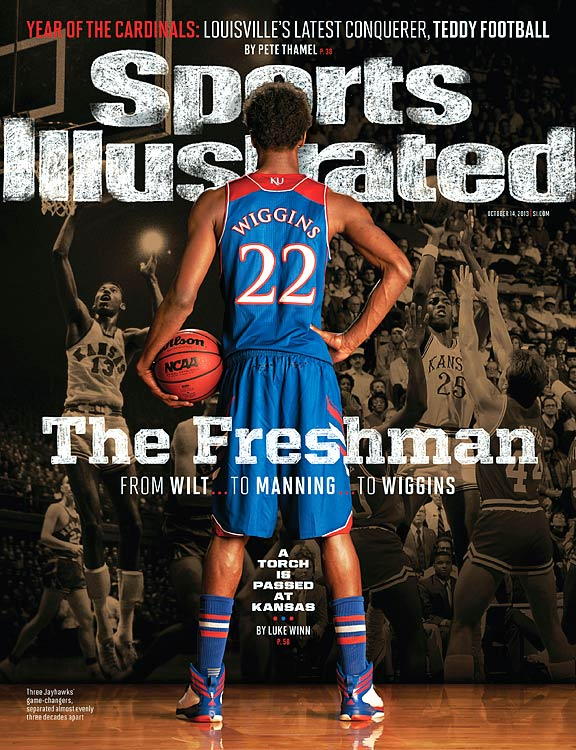 The eyes of every college basketball fan in the country will be on Andrew Wiggins this season at Kansas. But this isn't the first time a highly-touted basketball recruit has suited up for the Jayhawks. Luke Winn explores how Kansas has lured top hoops recruits over the years, from Wilt Chamberlain to Danny Manning to Wiggins.