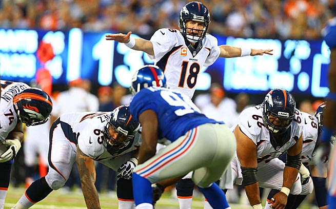 Peyton Manning and the Broncos should have an easy time disposing of Jacksonville this weekend.
