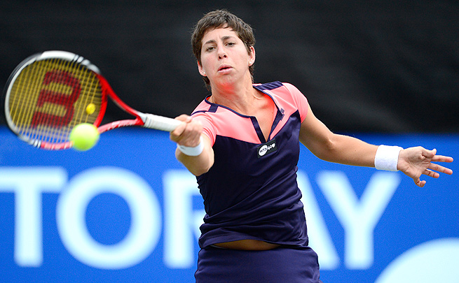 Carla Suarez Navarro topped Elina Svitolina 6-1, 6-4 and will face Kirsten Flipkens next.