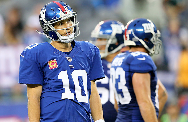Eli Manning leads the NFL with 12 interceptions thrown entering Week 6.