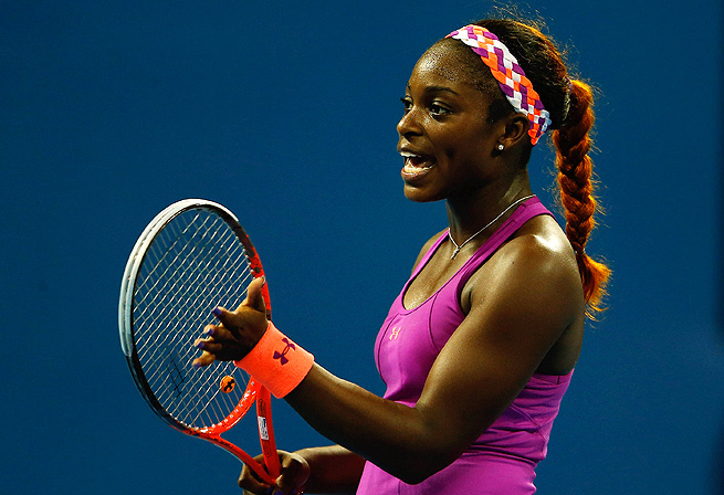 Sloane Stephens came back from a 5-2 deficit in the first set to defeat Andrea Petkovic 7-6 (1), 4-6, 6-3.